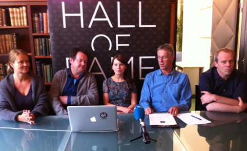 Rockheim Hall of Fame nomination committee 2011: (from left) Marte Thorsby, Larry Bringsjord, Marit Larsen, Petter Myhr and Ivar H�kon Eikje.