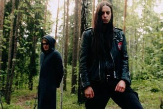 Darkthrone - fv: Nocturno Culto og Fenris (Foto: www.moonfog.no)