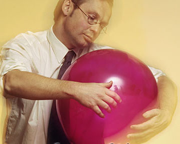 Rolf Wallin with balloon 2005